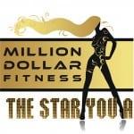 Million Dollar Fitness woman logo