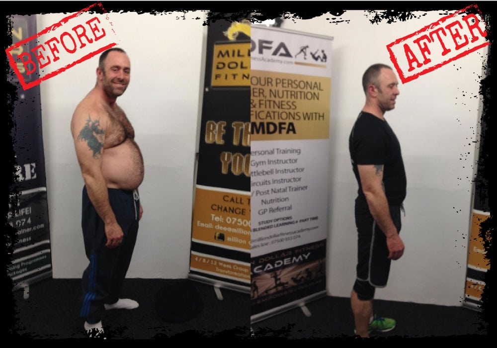 David Before and After at Million Dollar Fitness, L'Derry