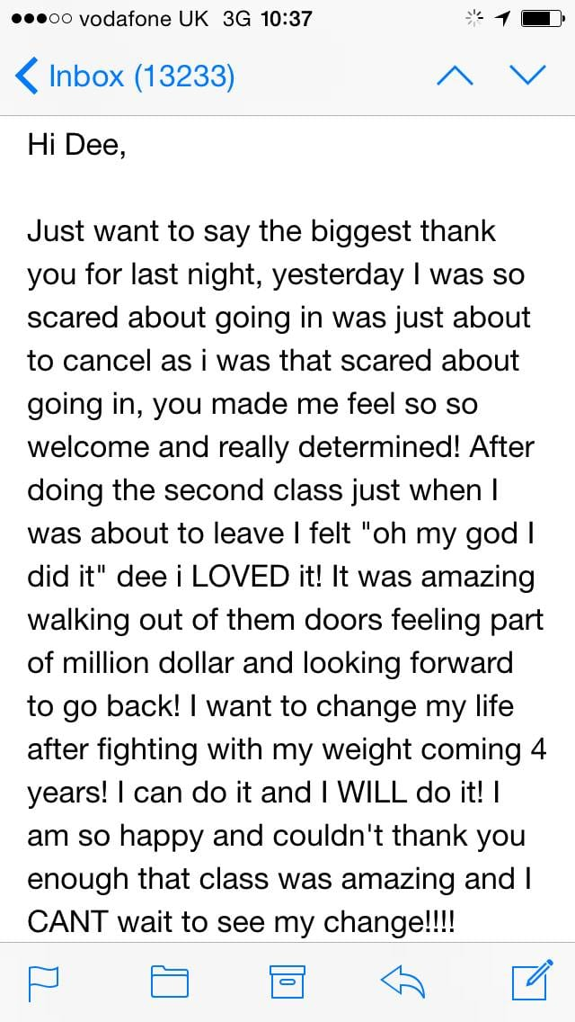 Million Dollar Fitness Testimonial L'Derry