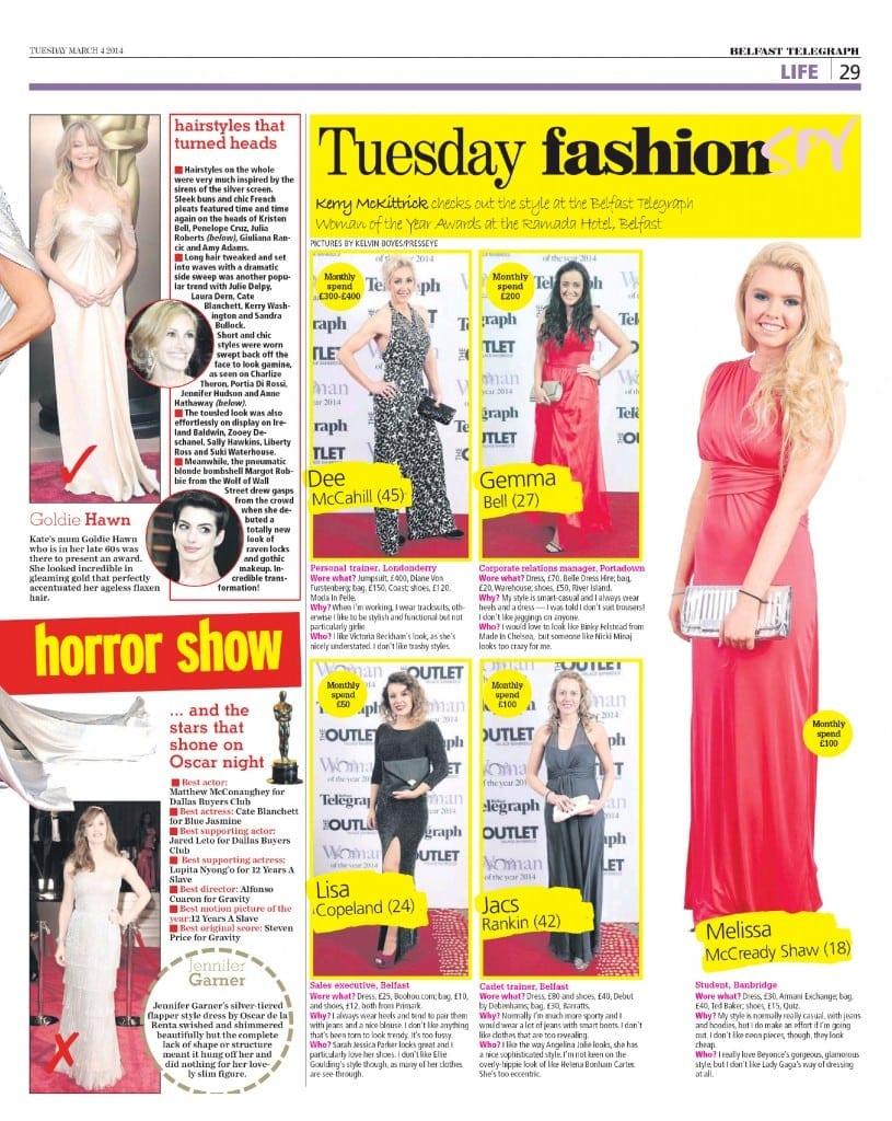 Dee McCahill - Belfast Telegraph - 4 Mar 2014 - Page 28
