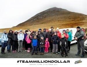 Million Dollar Fitness climb Errigal for Jamie's Journie