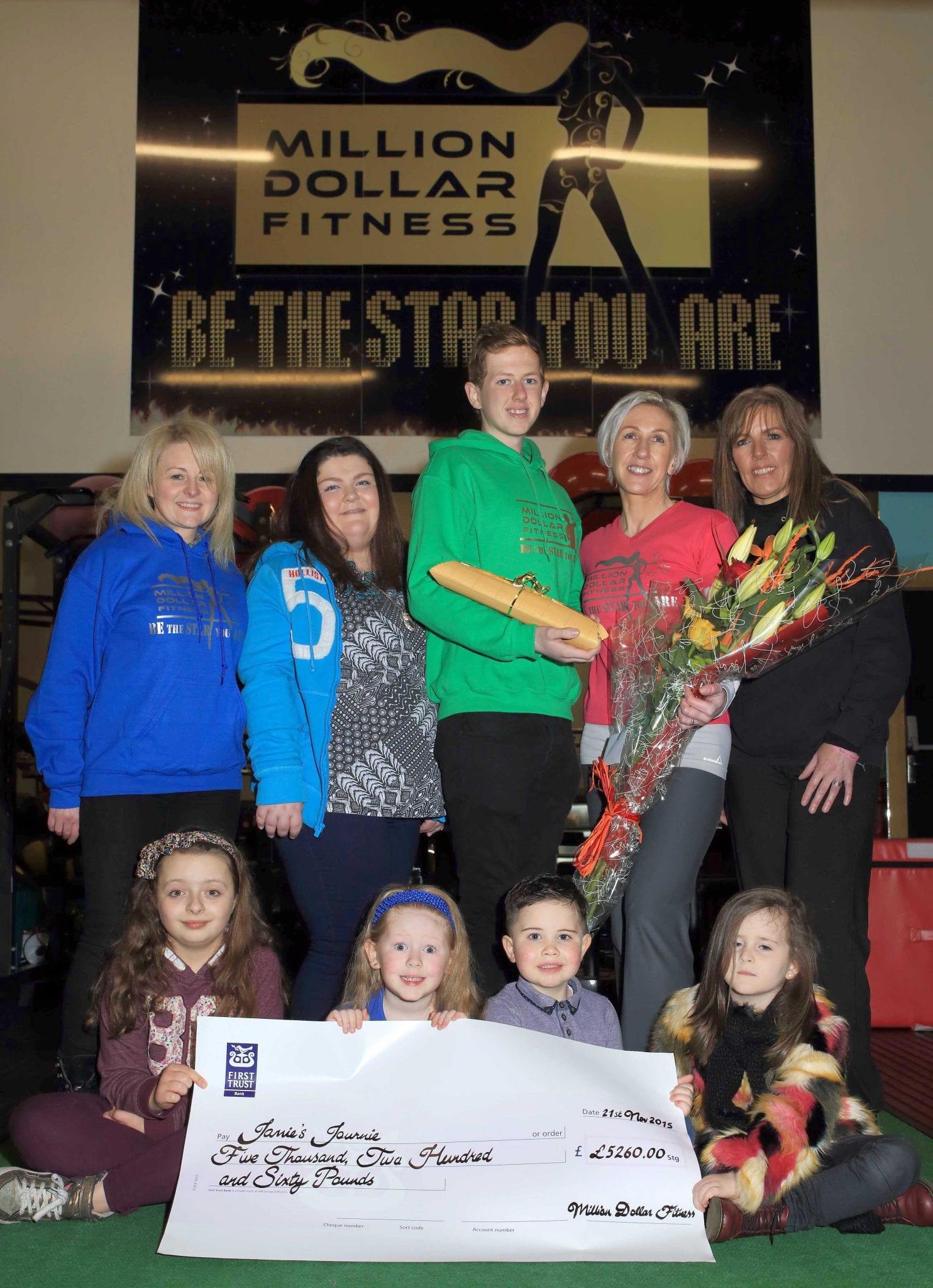 Million Dollar Fitness presentation to Jamie's Journie