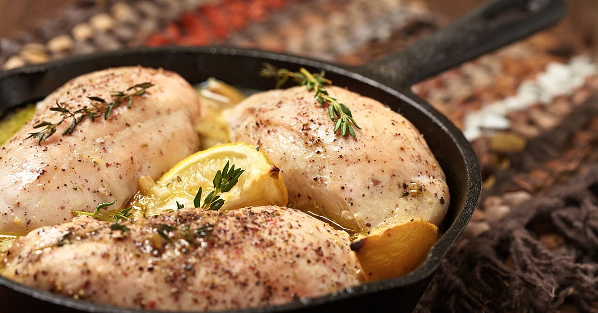 Recipe Lean Protein- Lemon Herb Roasted Chicken Breasts - Million Dollar Fitness