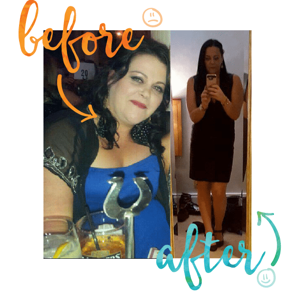 Liz Before and After at Million Dollar Fitness, L'Derry