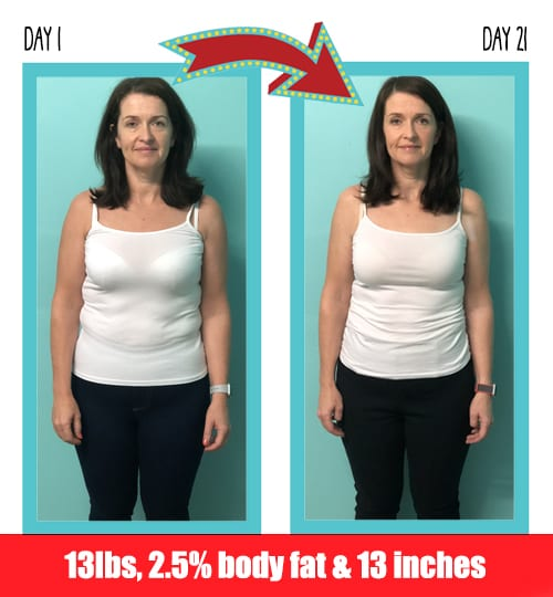 Ann-Marie lost 13 pounds in 21 days at Million Dollar Fitness