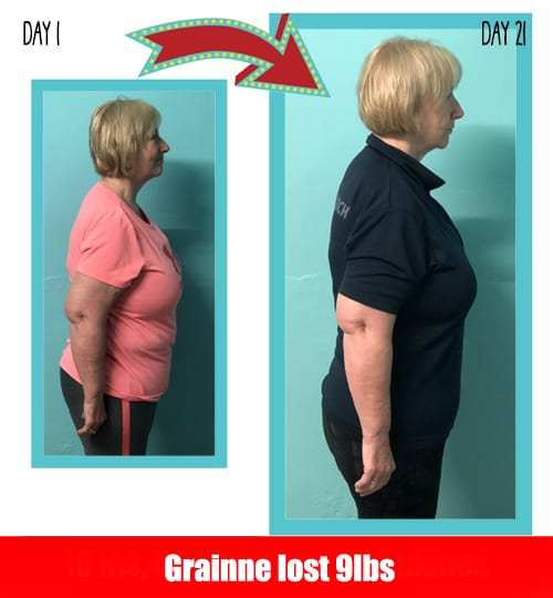 Grainne lost 9 pounds in 21 days at Million Dollar Fitness